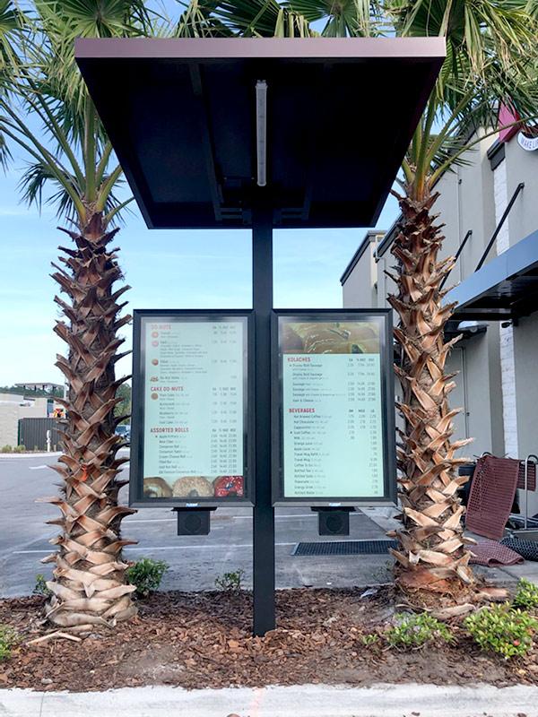 Affordable drive thru menu board The TV Shield PRO