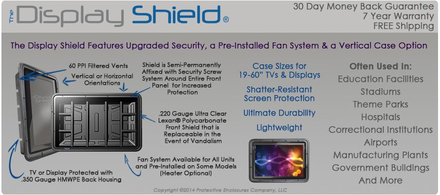 The Display Shield outdoor display enclosure