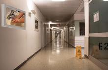 Hospital and medical center anti-ligature TV enclosures