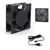 Fan for keep TV cool outside